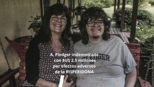 Risperidona autismo A. Pledger y su madre