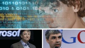 Pessoas autistas; imagen de Temple Grandin, Billy Gates e Larry Page