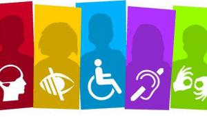 CUD: imagen de diferentes tipos de discapacidad