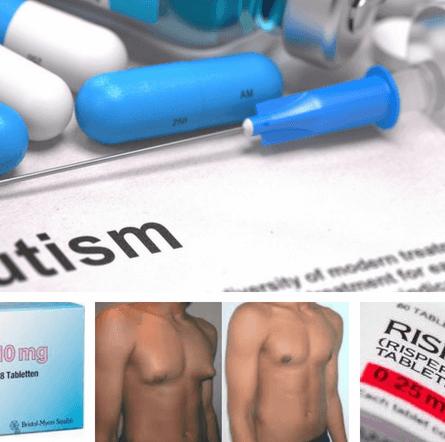 Medicamentos antipsicóticos: imagen de envases de antipsicóticos